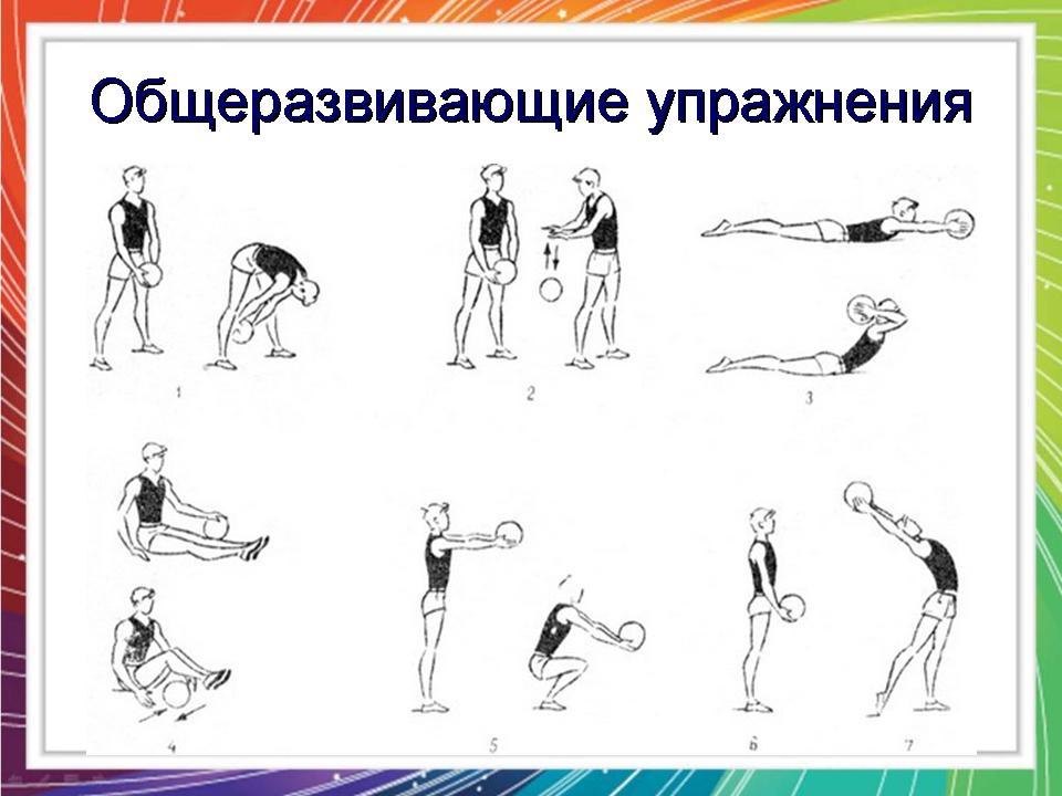 Упражнение по физической культуре в картинках