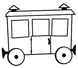 вагончик картинки раскраска натании продажу первой