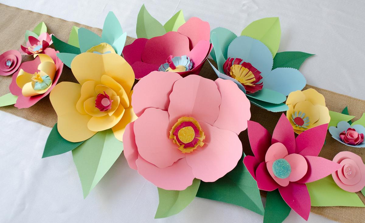 Открытка своими руками фото цветы