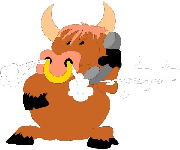 День, рисунки смешного быка