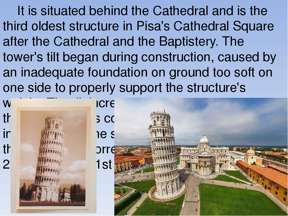 an analysis of the tower of pisa Leaning tower of pisa is a column  feasibility study on a simplified model of the tower of pisa presented at: structural analysis of historical constructions.