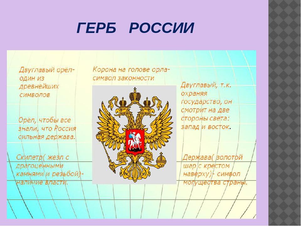 Г ГЕРБ РОССИИ