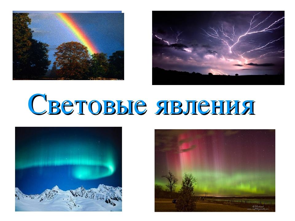 Световые явления картинки физика