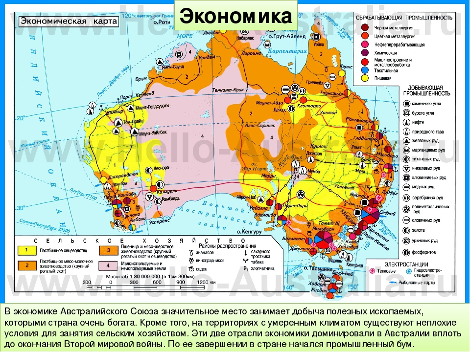 Экономика В экономике Австралийского Союза значительное место занимает добыча...