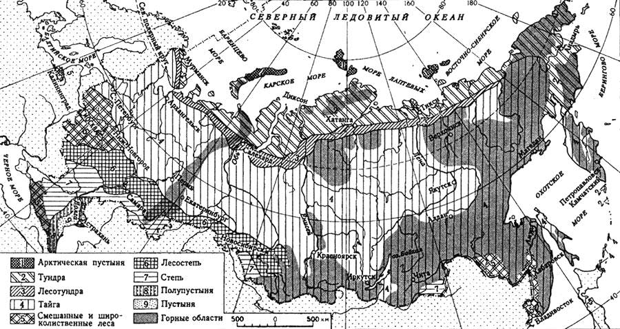 Контрольная работа природа россии 8543