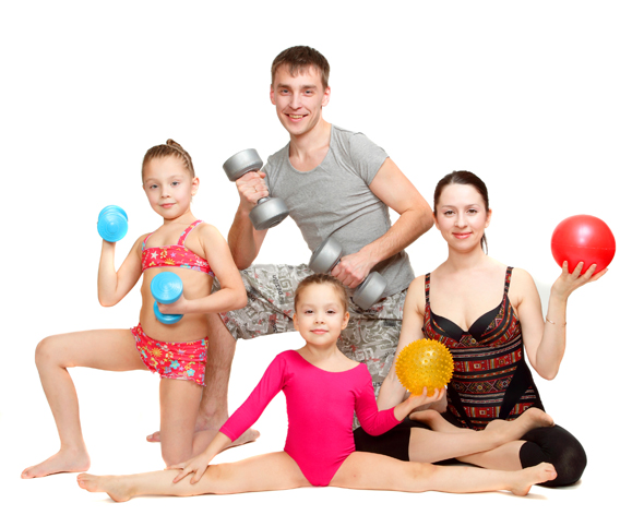 Картинки физкультура в семье