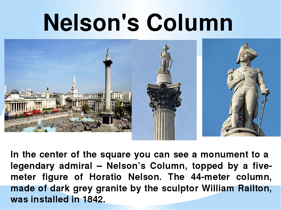 In the center of the square you can see a monument to a legendary admiral – N...