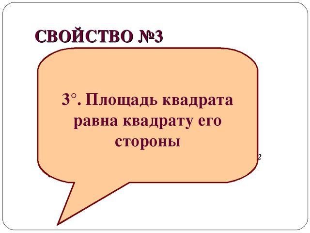 СВОЙСТВО №3 1см 1см 1см 1см² S= 1 · 1 = 1 см² а а A B C D S SABCD = a · a = a...
