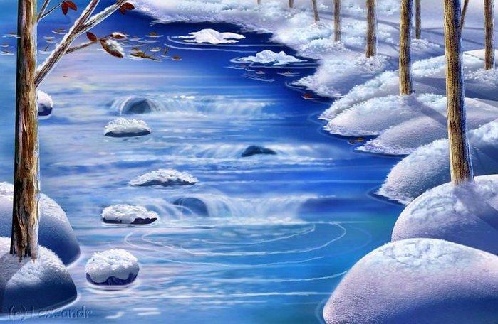 природе открытки бегут ручьи прошлом настоящем