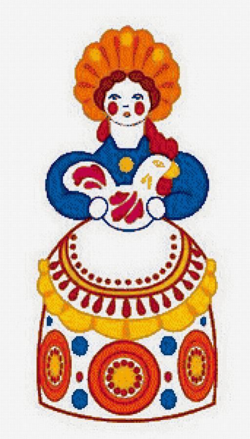 Барыня дымковская игрушка картинки для детей