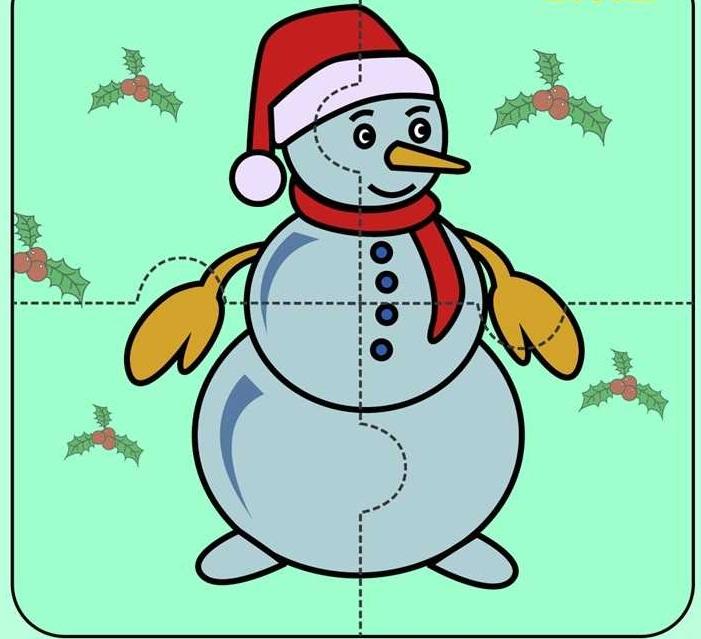 Картинка собери снеговика