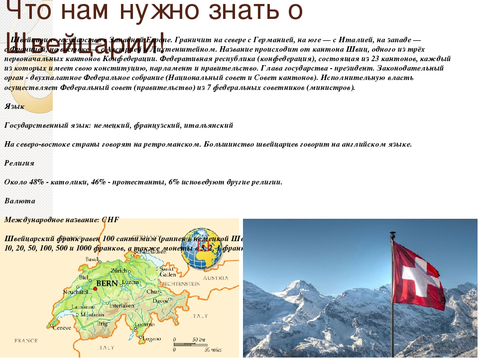 Доклад на английском языке про швейцарию 863