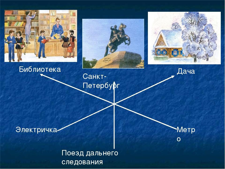 Библиотека Санкт-Петербург Дача Электричка Поезд дальнего следования Метро