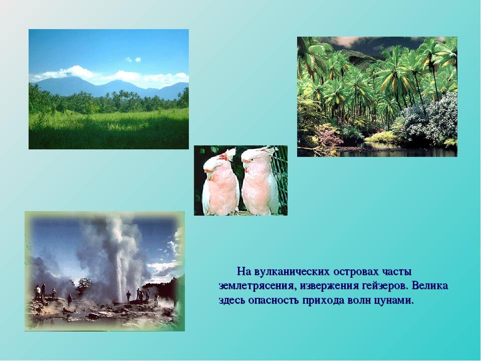 На вулканических островах часты землетрясения, извержения гейзеров. Велика з...
