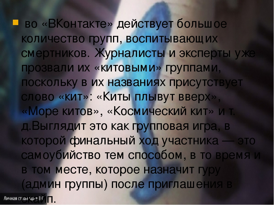 во «ВКонтакте» действует большое количество групп, воспитывающих смертников...