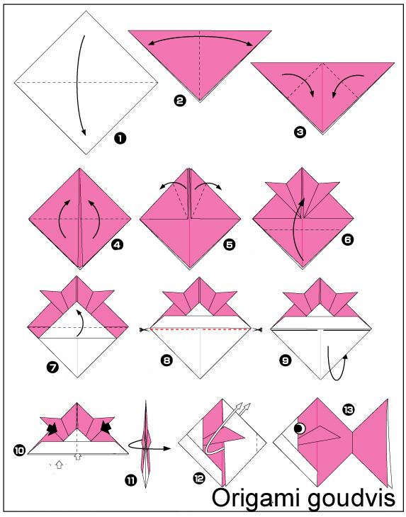 Как сделать из бумаги рыбу поэтапно