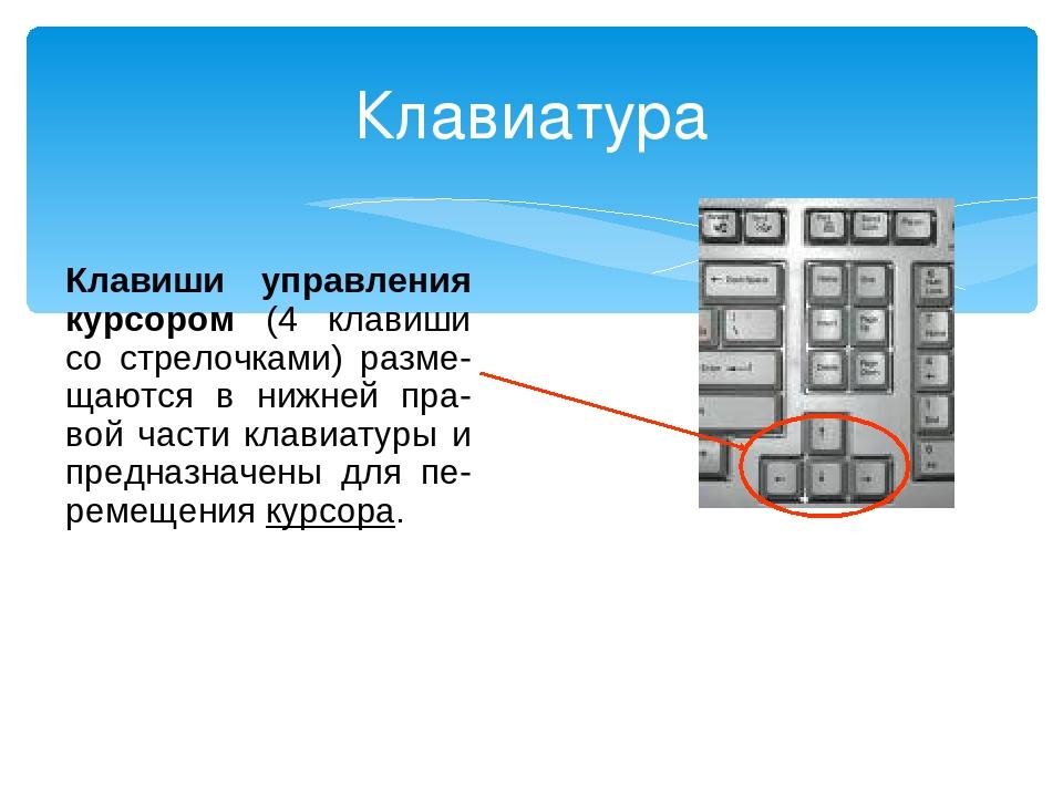 клавиши управления курсором картинка