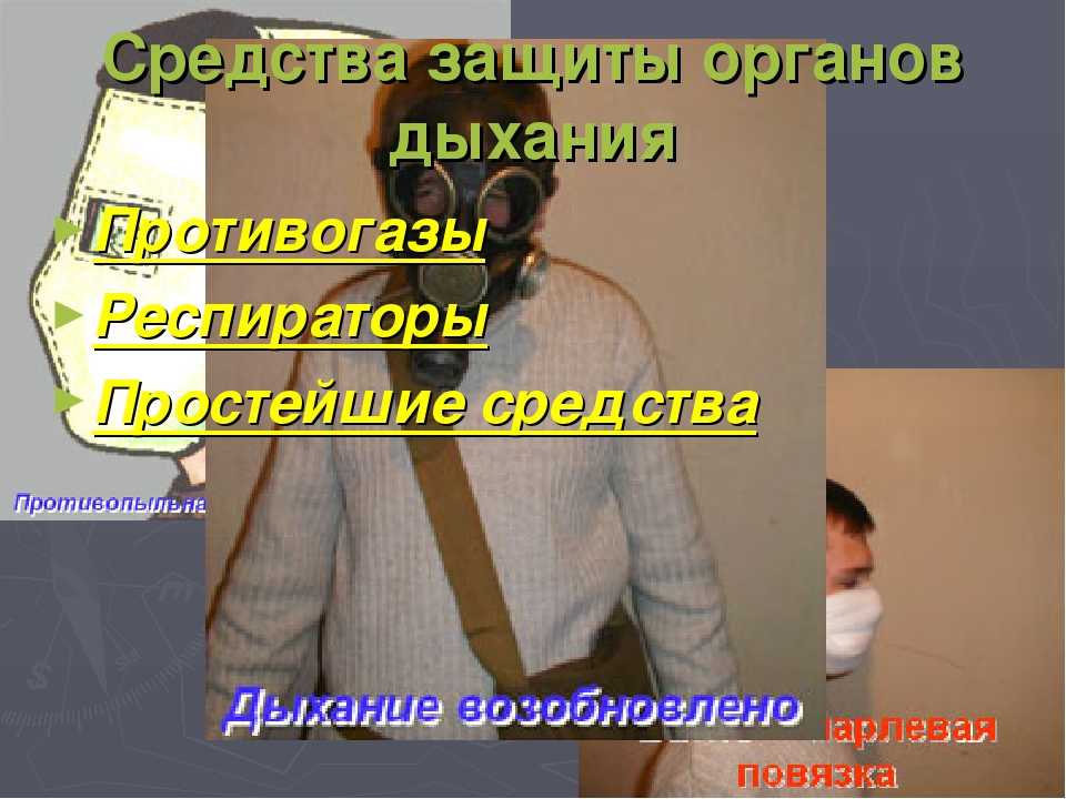 Средства защиты органов дыхания Противогазы Респираторы Простейшие средства