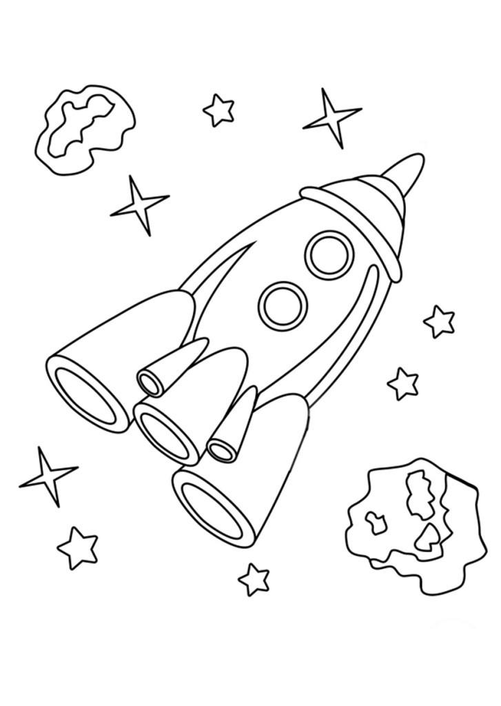 Раскраска ракет онлайн