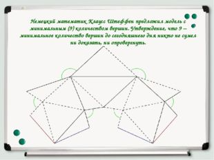 Немецкий математик Клаусс Штеффен предложил модель с минимальным (9) количест
