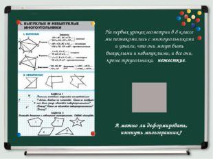 На первых уроках геометрии в 8 классе мы познакомились с многоугольниками и у