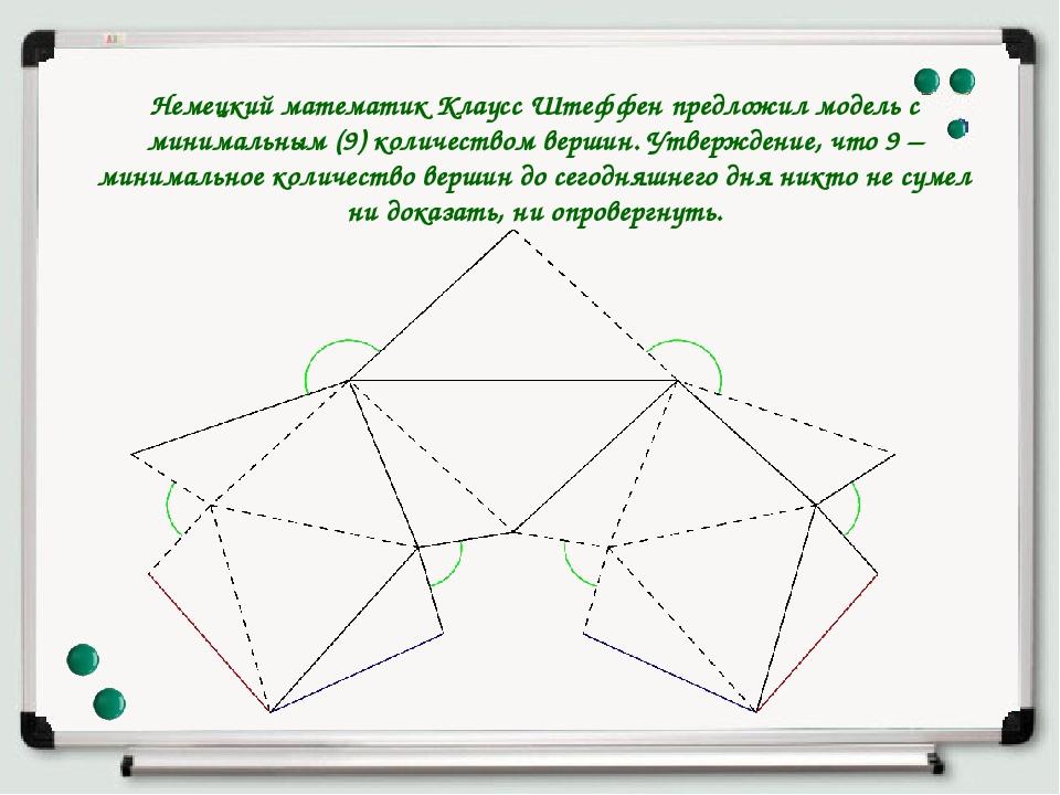 Немецкий математик Клаусс Штеффен предложил модель с минимальным (9) количест...