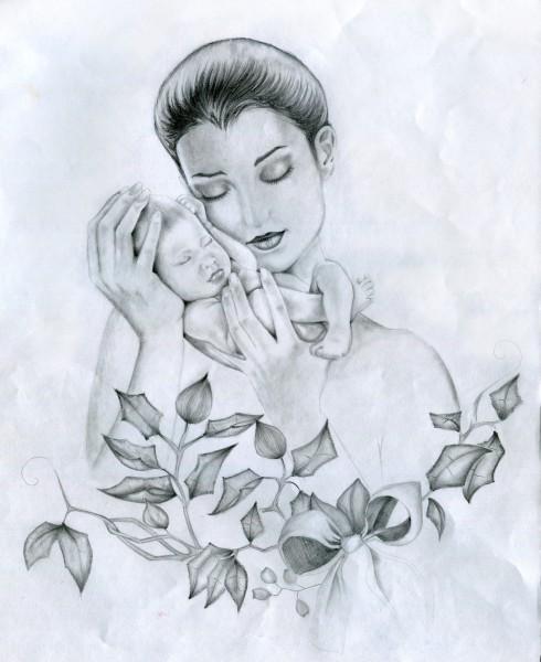 День матери нарисовать картинки