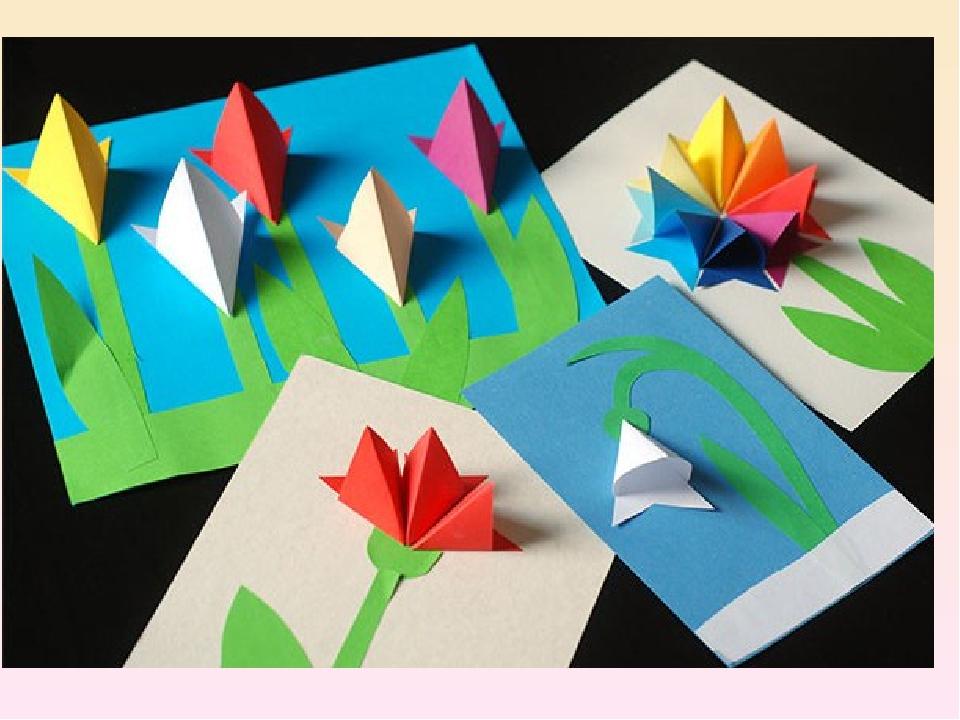 Красивая открытка маме на день рождения своими руками из бумаги оригами, надписью люблю