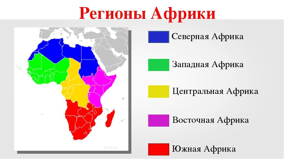 картинки регионы африки это
