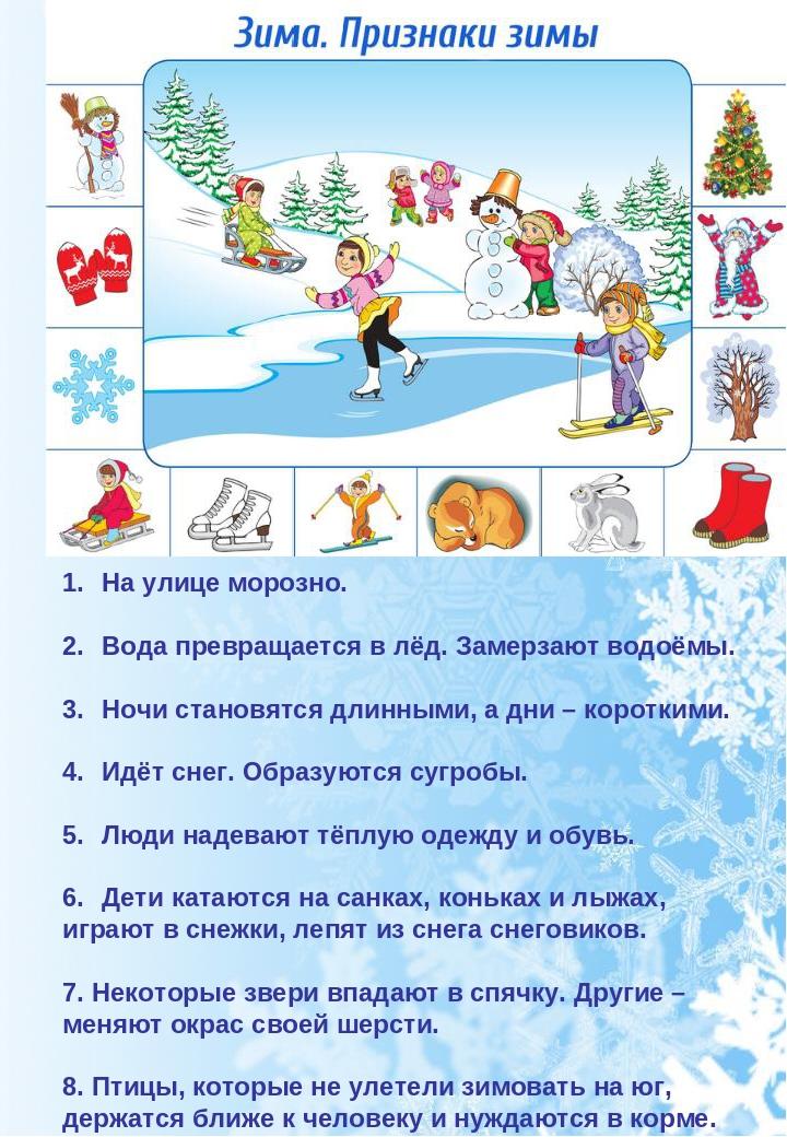 Картинки с приметами зимы для детского сада, симпсон