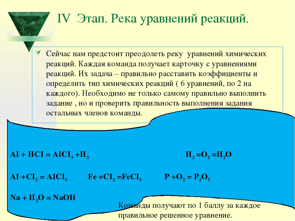 AI + HCI = AICI3 +H2 H2 =O2 =H2O AI +CI2 = AICI3 Fe +CI2 =FeCI3 P +O2 = P2O5...
