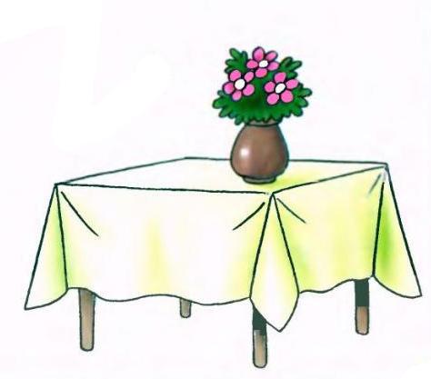 SPAIO рисунок поэтапно стол для детей мужчина