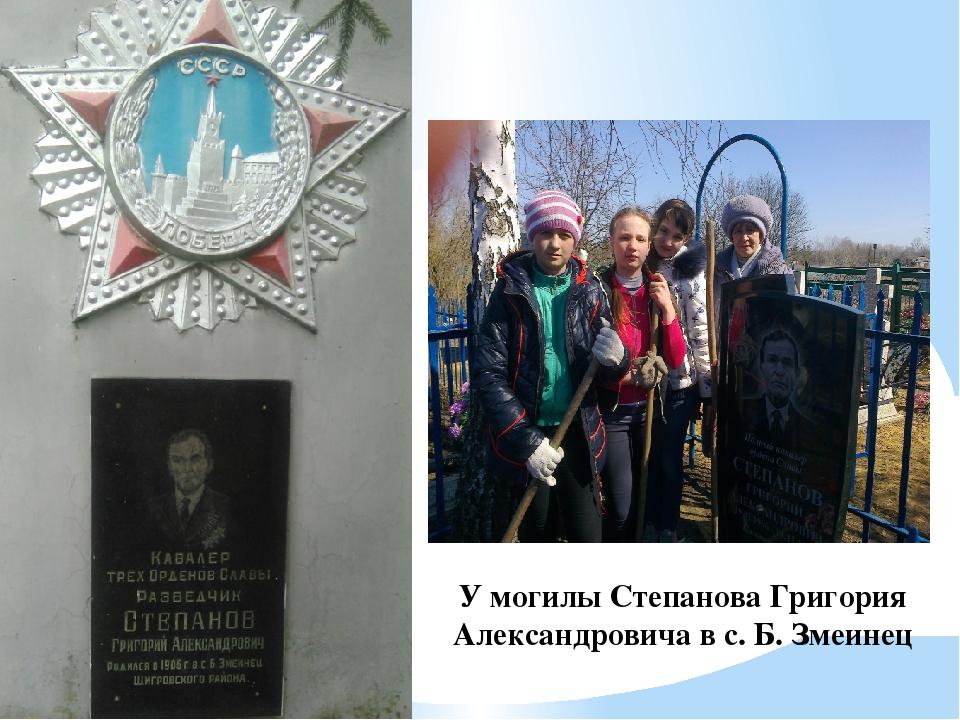 У могилы Степанова Григория Александровича в с. Б. Змеинец