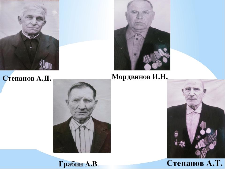 Мордвинов И.Н. Грабин А.В. Степанов А.Т. Степанов А.Д.