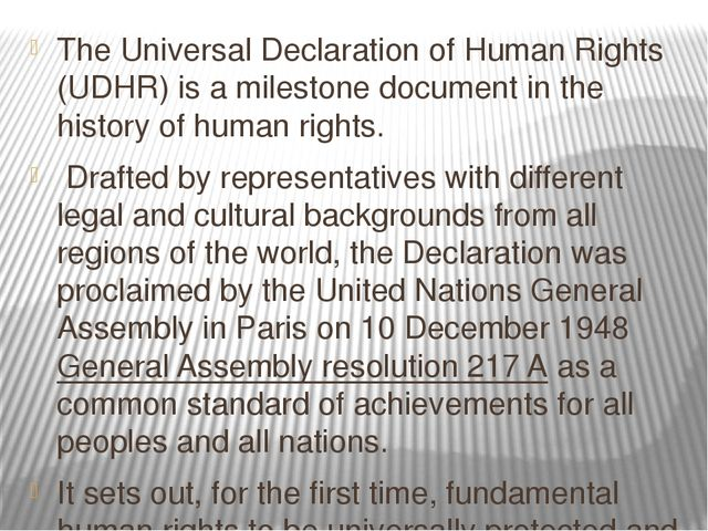 critique of the universal declaration of Notre dame law review volume 73|issue 5 article 18 6-1-1999 knowing the universal declaration of human rights mary ann glendon follow this and additional works at:.