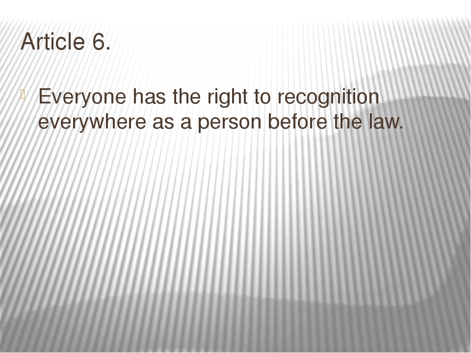 article 6 the right to a Article 20 - the right to equality before the law - is more related to echr art14, and article 47, the right to an effective remedy and to a fair trial is the protection of article 6 echr only extends to those disputes that concern a civil right (as well of course to the determination of any criminal.