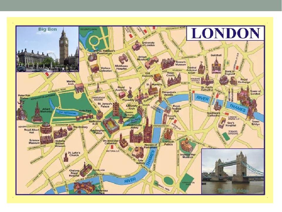 Схема лондона на русском языке