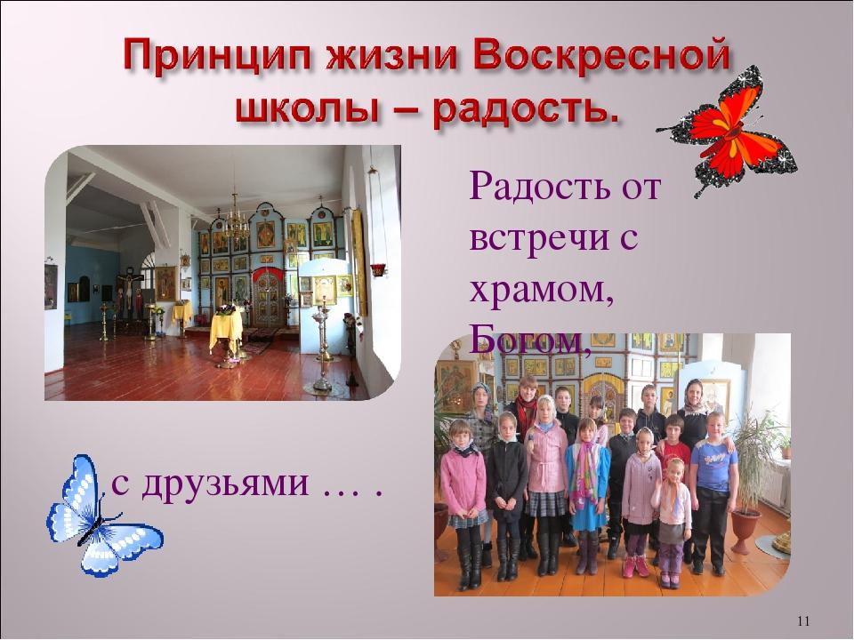 Поздравление детей воскресной школы с началом учебного года