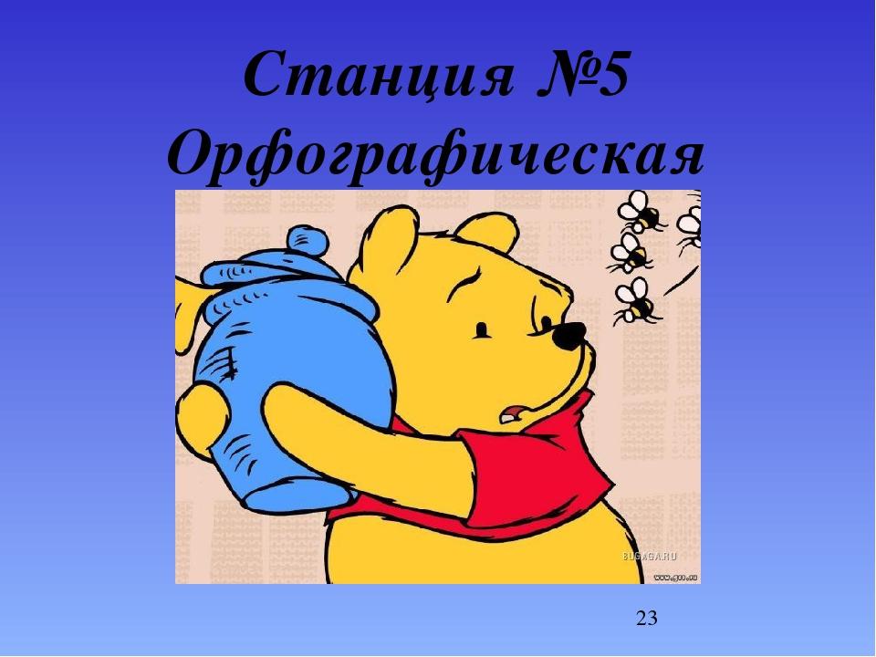 Станция №5 Орфографическая