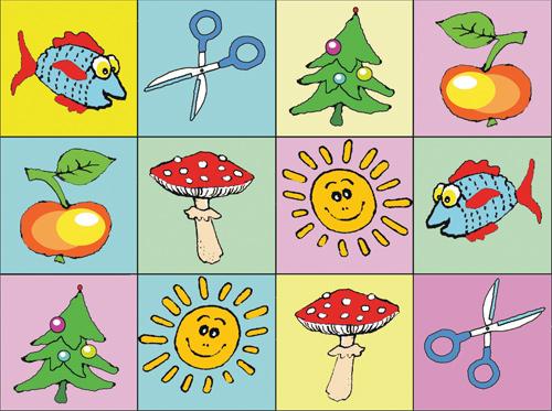 картинки для игры найди по цвету
