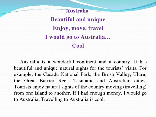 Australia Beautiful and unique Enjoy, move, travel I would go to Australia…...