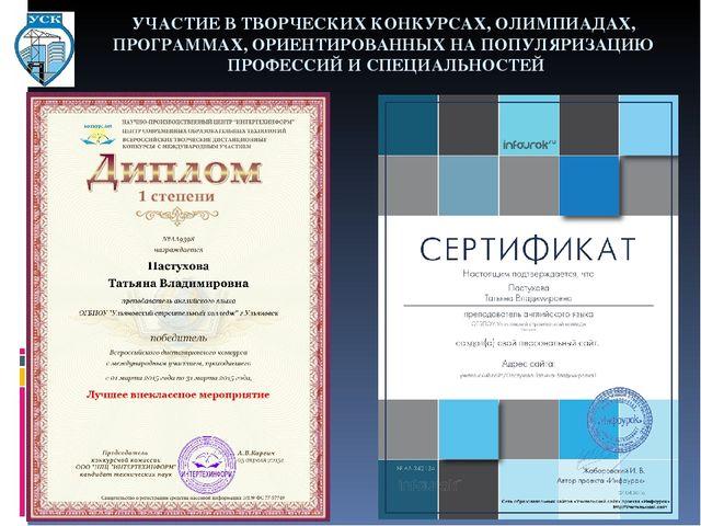 Конкурсные программы конкурсы