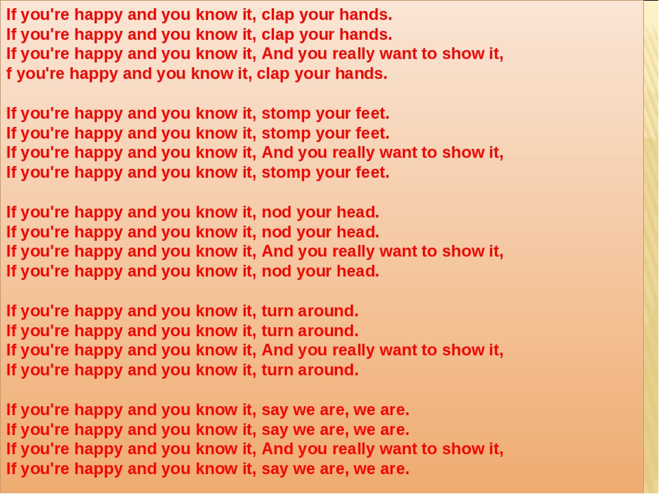 if your happy and you know clap your hands - 960×720