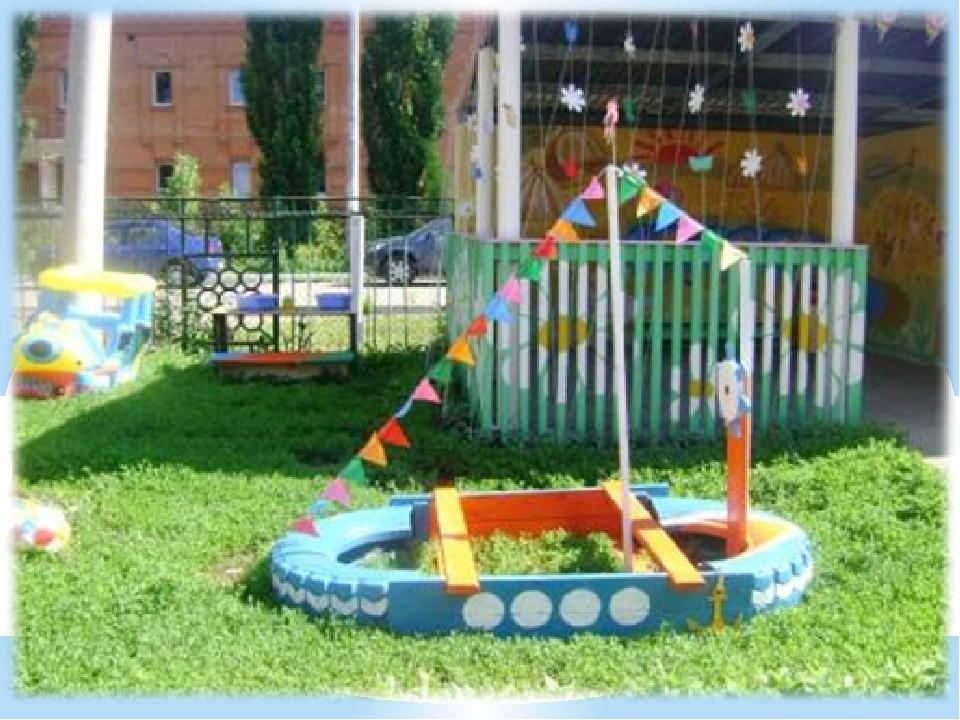 Проект участок в детском саду своими руками