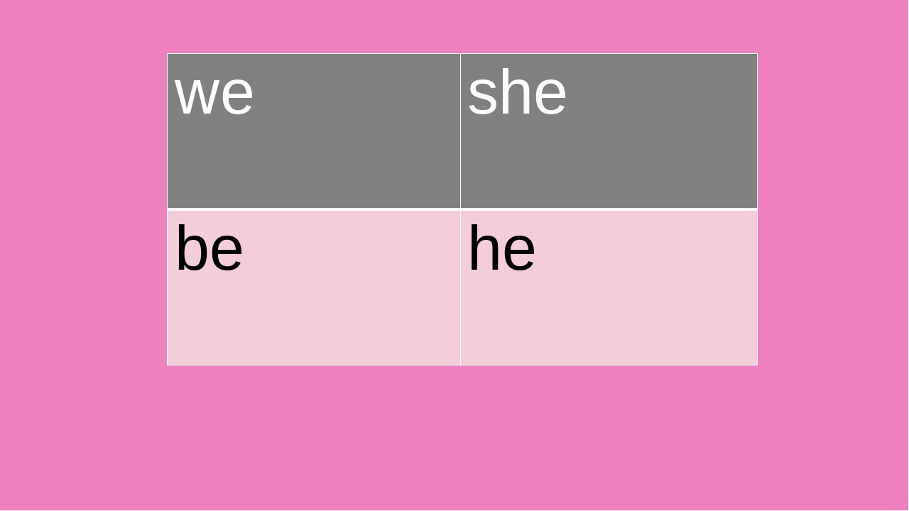 we she be he