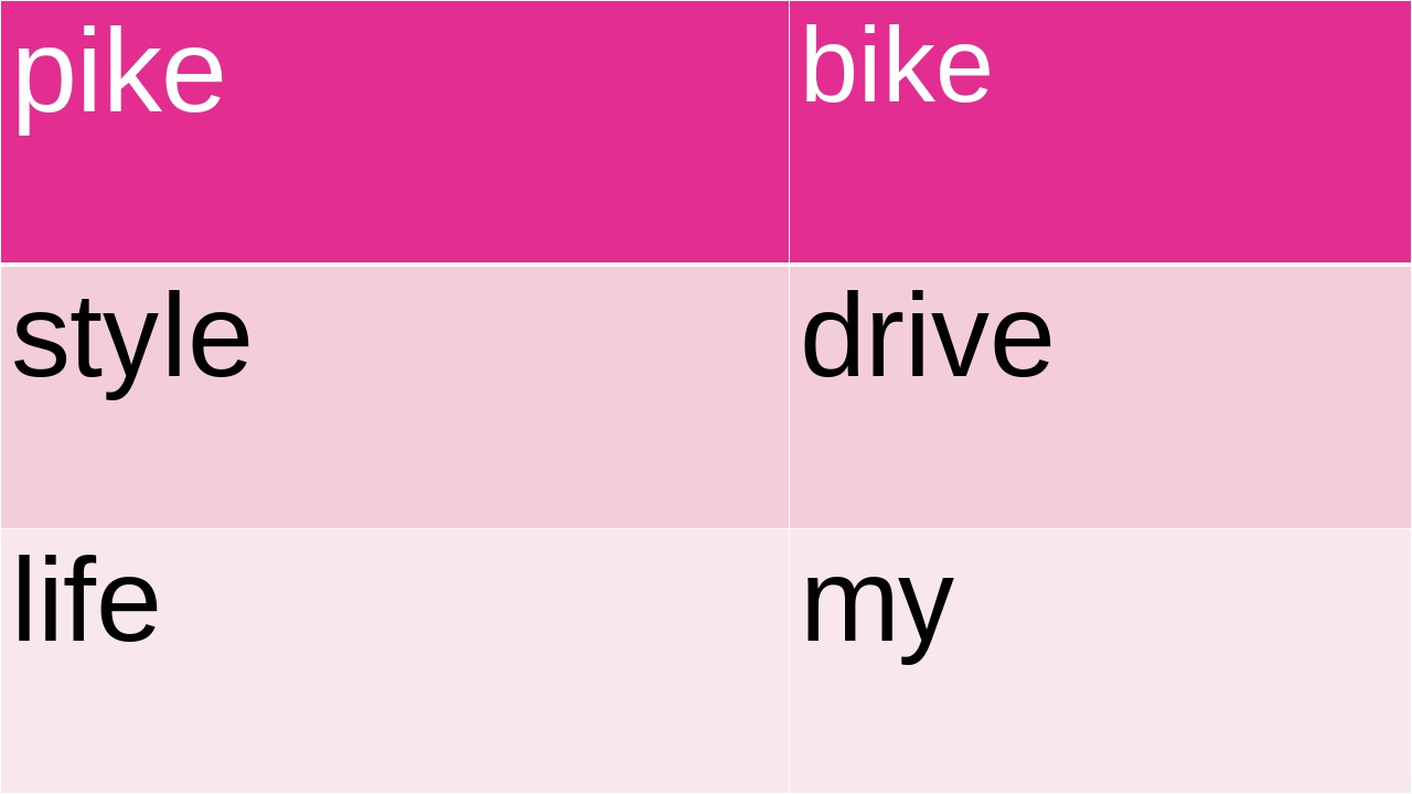 pike bike style drive life my