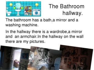 Flat bathroom mirror