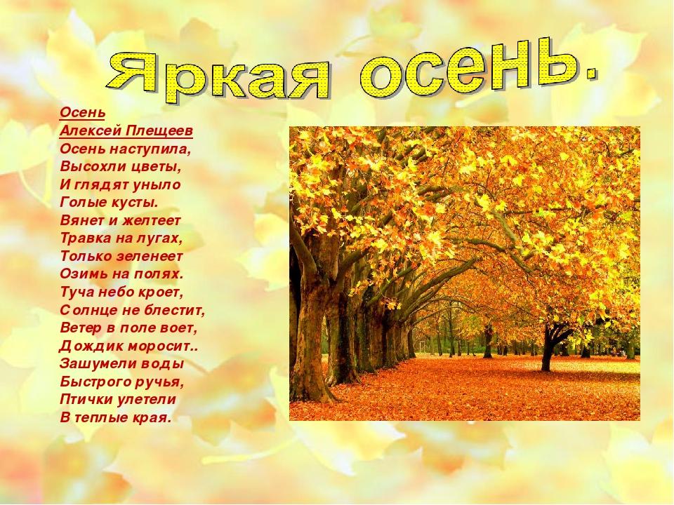 Стихи 3 класс про осень