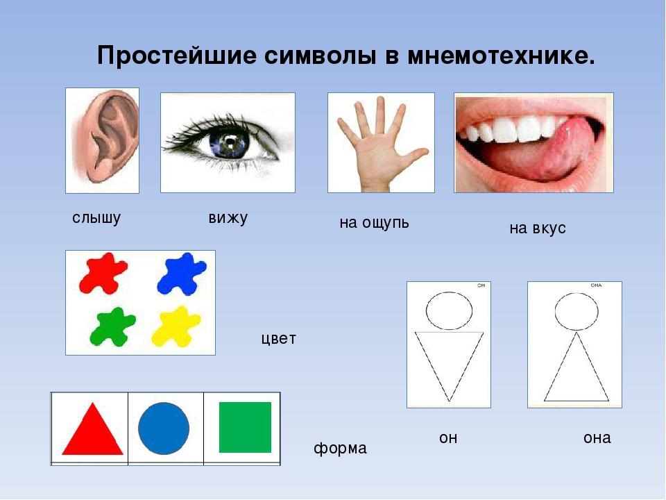 Картинки символов для развития речи