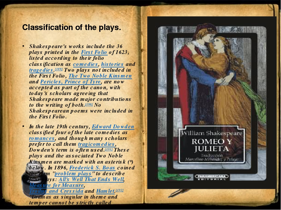 an review of william shakespeares work and the target audience Target audience general system details william shakespeare: a life of drama a william shakespeare |h.